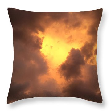 Thunderous Sunset Throw Pillow