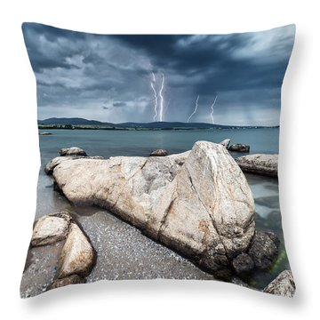 Thunderstorm  Throw Pillow
