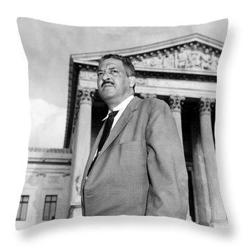 Thurgood Marshall Throw Pillow