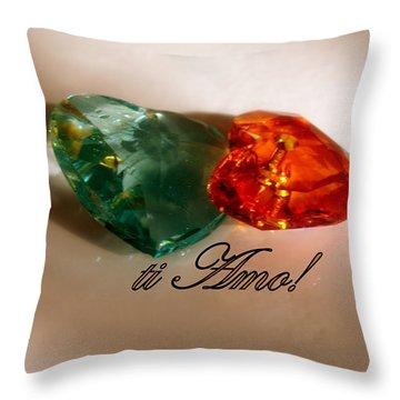 Throw Pillow featuring the photograph Ti Amo by Richard Ricci