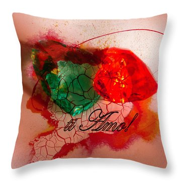 Throw Pillow featuring the photograph Ti Amo Too by Richard Ricci