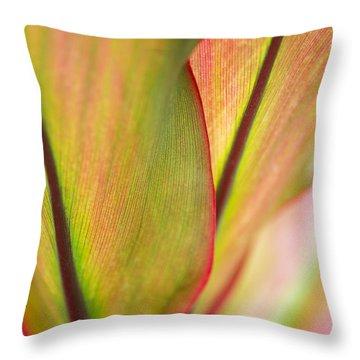 Ti-leaf Detail Throw Pillow