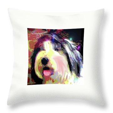 Tia Throw Pillow by Alene Sirott-Cope