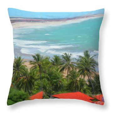 Tiabia, Brazil Beach Throw Pillow