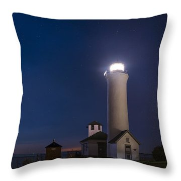 Throw Pillow featuring the photograph Tibbets Point Night by Mark Papke