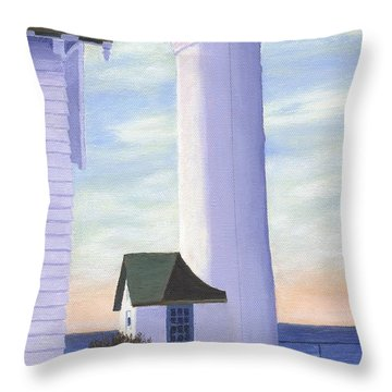Throw Pillow featuring the painting Tibbett's Point by Lynne Reichhart
