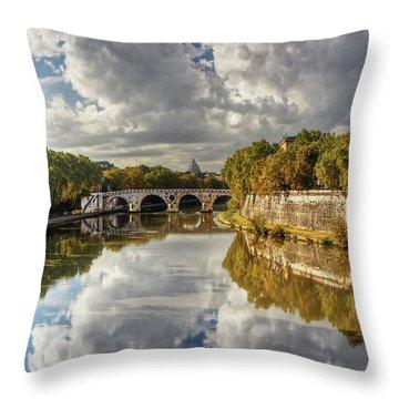 Tiber Morning Throw Pillow