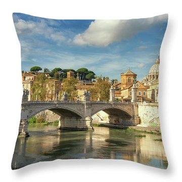 Tiber View Throw Pillow