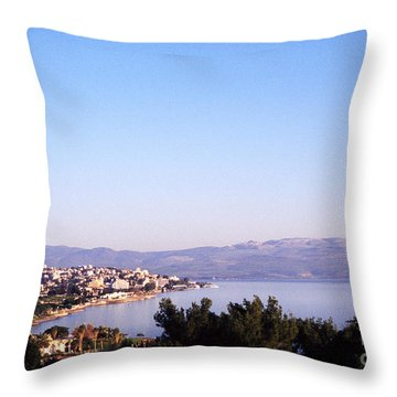 Tiberias Sea Of Galilee Israel Throw Pillow by Thomas R Fletcher