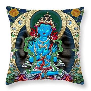Tibetan Thangka -  Vajradhara Throw Pillow