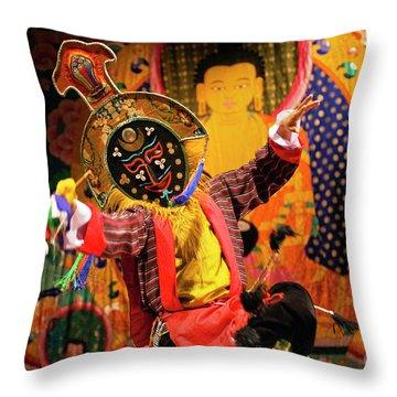 Tibetan_d240 Throw Pillow