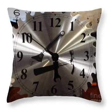 Tick Tock Tick Tock Throw Pillow by Rod Jellison