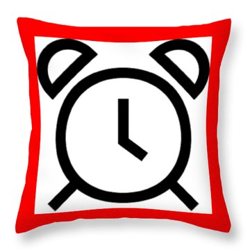 Tick Talk Throw Pillow by Now