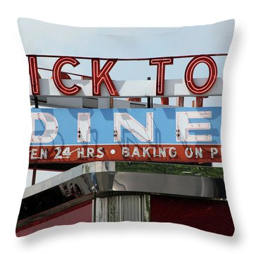 Tick Tock Diner Throw Pillow