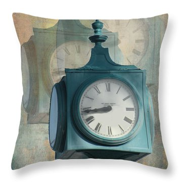 Tick Tock Version Two Throw Pillow by Rosalie Scanlon