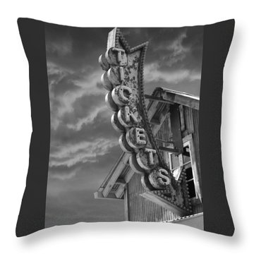 Throw Pillow featuring the photograph Tickets Bw by Laura Fasulo