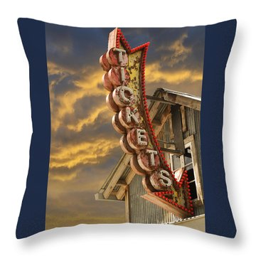 Throw Pillow featuring the photograph Tickets  by Laura Fasulo