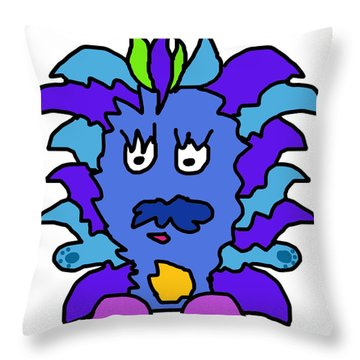 Tickle Monster Throw Pillow by Jera Sky
