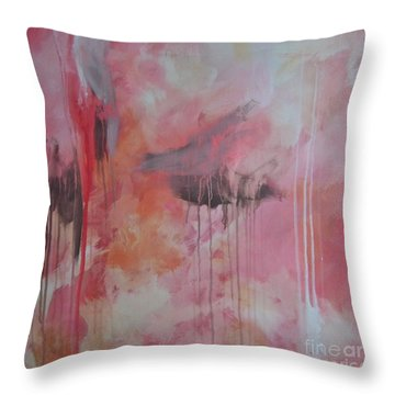 Tickled Pink 3 Throw Pillow