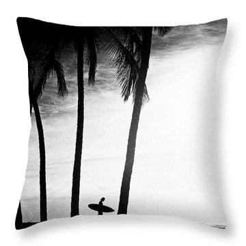 Throw Pillow featuring the photograph Ticla Palms by Nik West