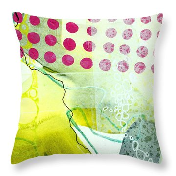Tidal 19 Throw Pillow by Jane Davies