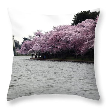 Tidal Basin Spring Throw Pillow by Mitch Cat