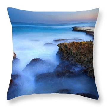 Tidal Bowl Boil Throw Pillow by Mike  Dawson
