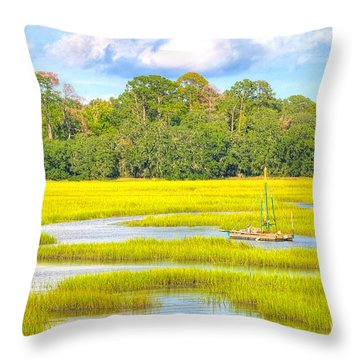 Tidal Castaway Throw Pillow