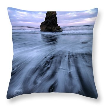 Tidal Dance II Throw Pillow