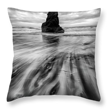 Tidal Dance Throw Pillow