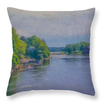 Tidal Inlet In Southern Maine Throw Pillow