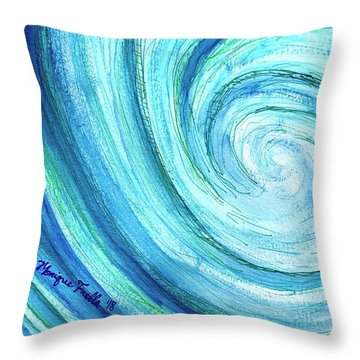 Throw Pillow featuring the painting Tidal by Monique Faella