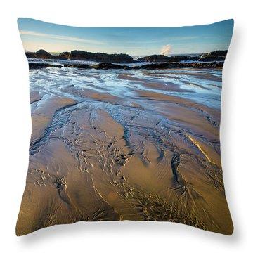 Tidal Patterns Throw Pillow