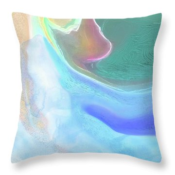 Throw Pillow featuring the digital art Tidal Pool by Gina Harrison