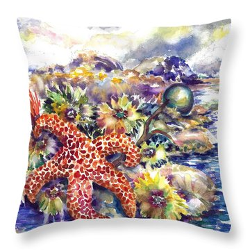 Tidal Pool I Throw Pillow