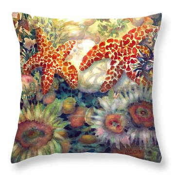 Tidal Pool II Throw Pillow