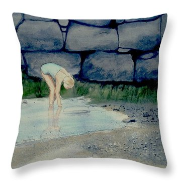 Tidal Pool Treasures Throw Pillow by Anthony Ross