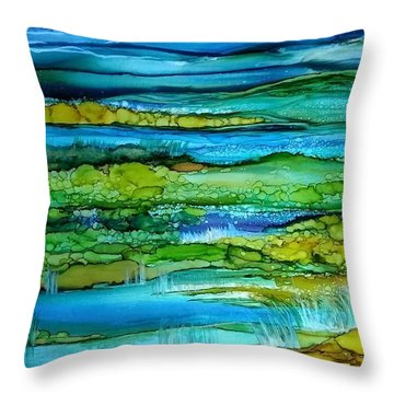 Tidal Pools Throw Pillow