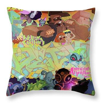Tidal Recall 2 Throw Pillow