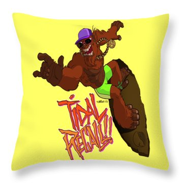 Tidal Recall  Throw Pillow by Nelson Dedos Garcia