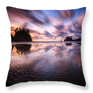 Tidal Reflection Serenity Throw Pillow