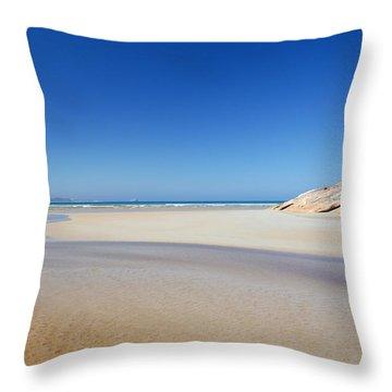 Tidal River Beach Throw Pillow