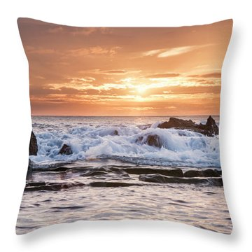 Tidal Sunset Throw Pillow by Heather Applegate
