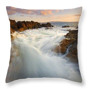 Tidal Surge Throw Pillow by Mike  Dawson