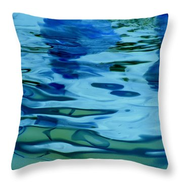 Tidal Swirl I Throw Pillow