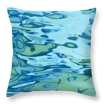 Tidal Swirl II Throw Pillow