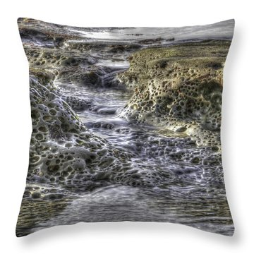 Tide Pool Waterfall Throw Pillow
