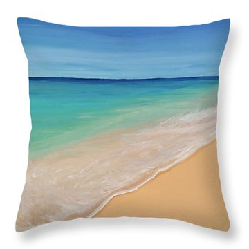 Tide Washing In Throw Pillow