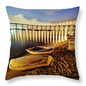 Tidelands Taxis Throw Pillow