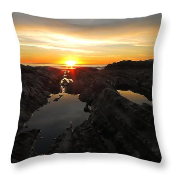 Tidepools Throw Pillow by Paul Foutz